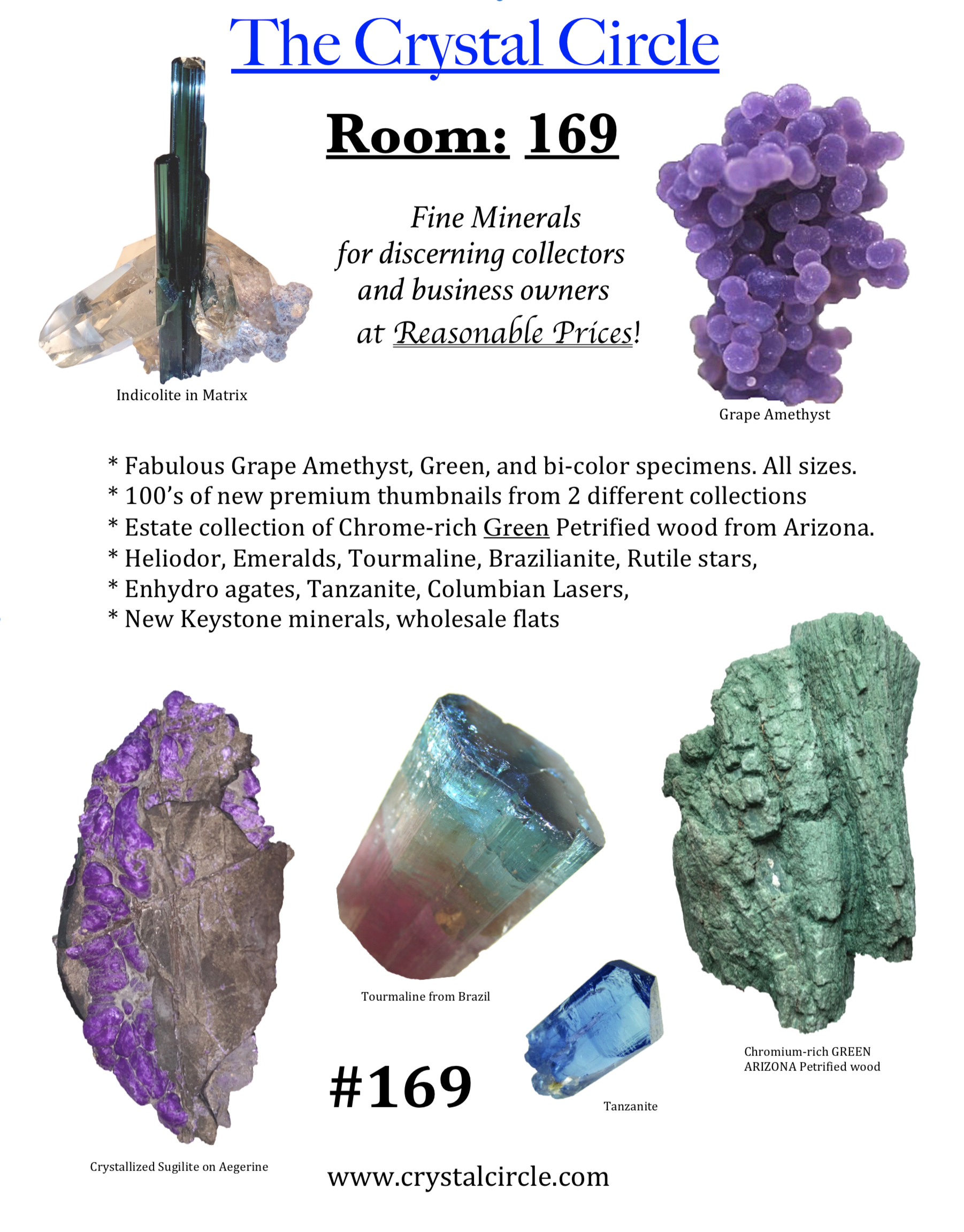 The Crystal Circle sells minerals in Tucson ...