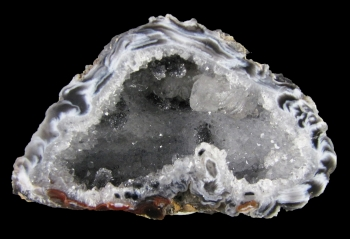 Quartz Var. Agate Enhydro Geode (rough and cut) from Rio Grande Del Sur, Brazil [db_pics/pics/agate3b.jpg]