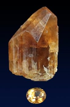 Danburite rough and cut from Dalnegorsk, Primorskij Kraj, Russia [db_pics/pics/danburite7b.jpg]