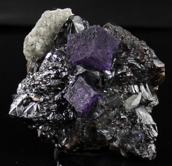 Fluorite on Sphalerite w/ Calcite from Elmwood Mine, Smith Co., Tennessee [db_pics/pics/fluorite12a.jpg]
