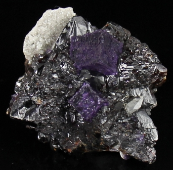 Fluorite on Sphalerite w/ Calcite from Elmwood Mine, Smith Co., Tennessee [db_pics/pics/fluorite12b.jpg]