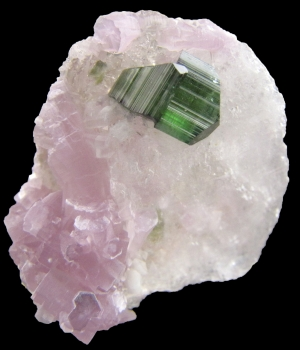 Tourmaline on Quartz with Lepidolite from Pederneira Mine, Sao Jose Da Safira, Minas Gerais, Brazil [db_pics/pics/lepidolite1a.jpg]