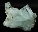 Aquamarine crystal cluster from Pakistan