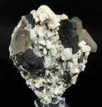 Feldspar with Biotite mica, Smoky Quartz, Topaz and Schorl from Erongo Mountains, Erongo Region, Namibia [FELDSPAR1]