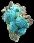 Malachite and Chrysocholla pseudomorph after Azurite